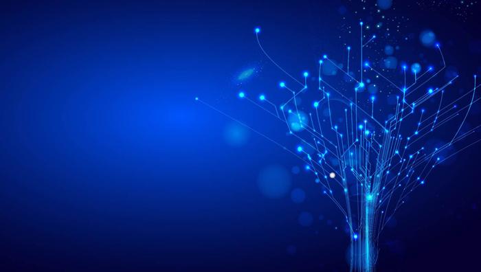 蓝色科技线条ppt背景图片